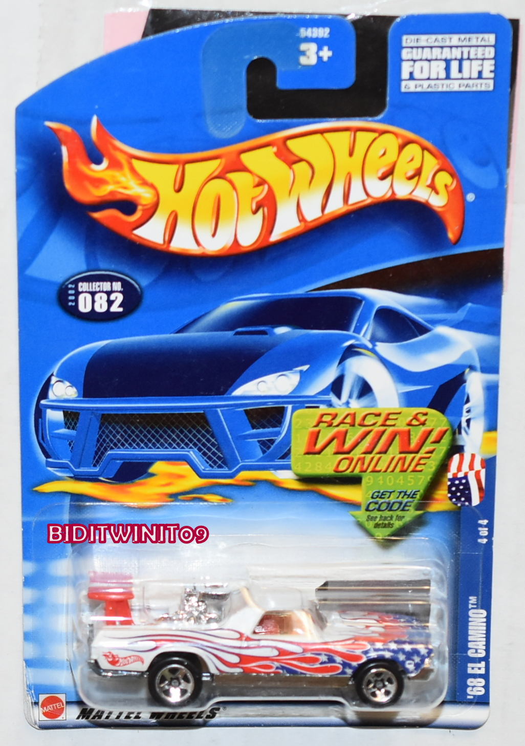 HOT WHEELS 2002 '68 EL CAMINO #082 WHITE