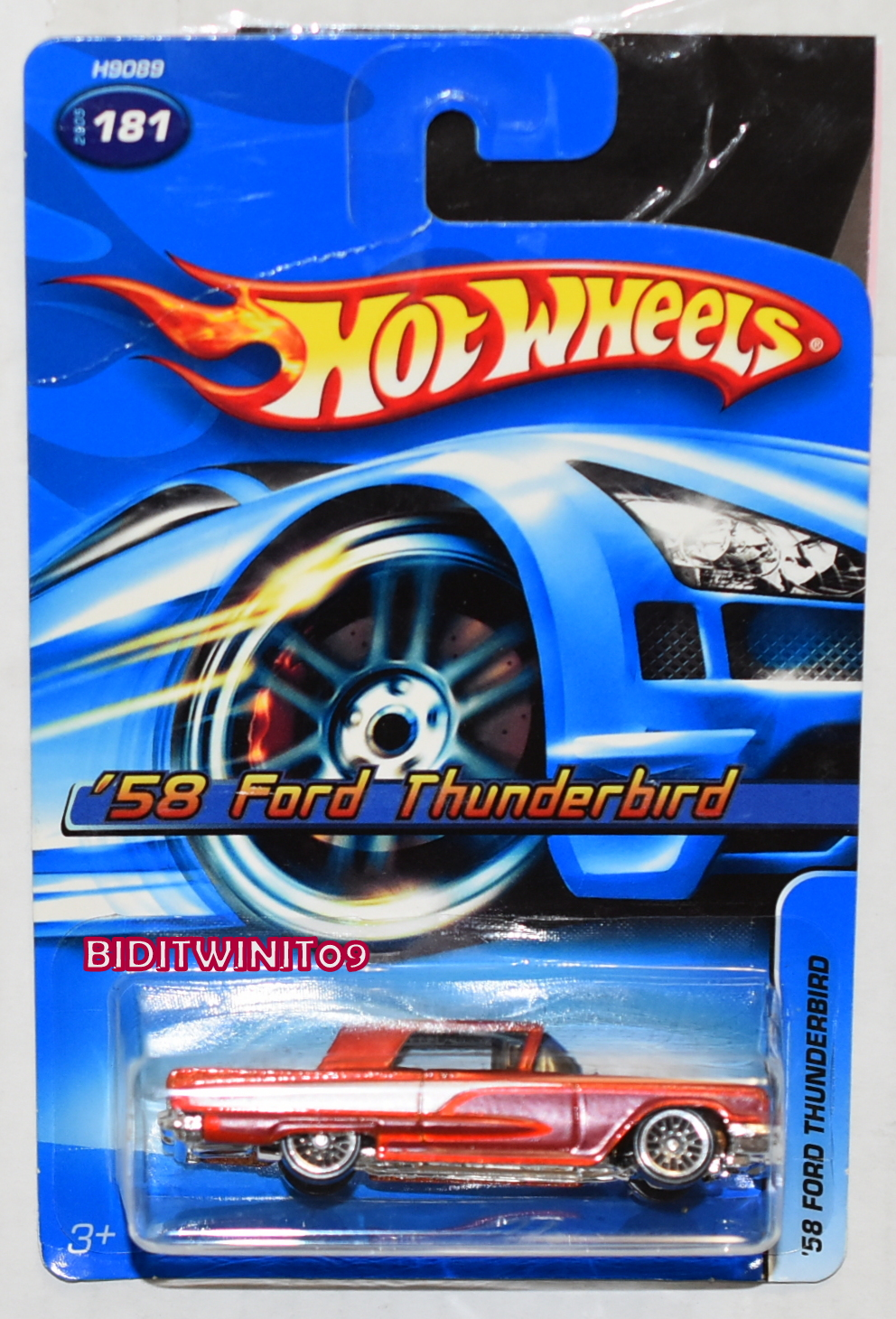 HOT WHEELS 2005 '58 FORD THUNDERBIRD #181
