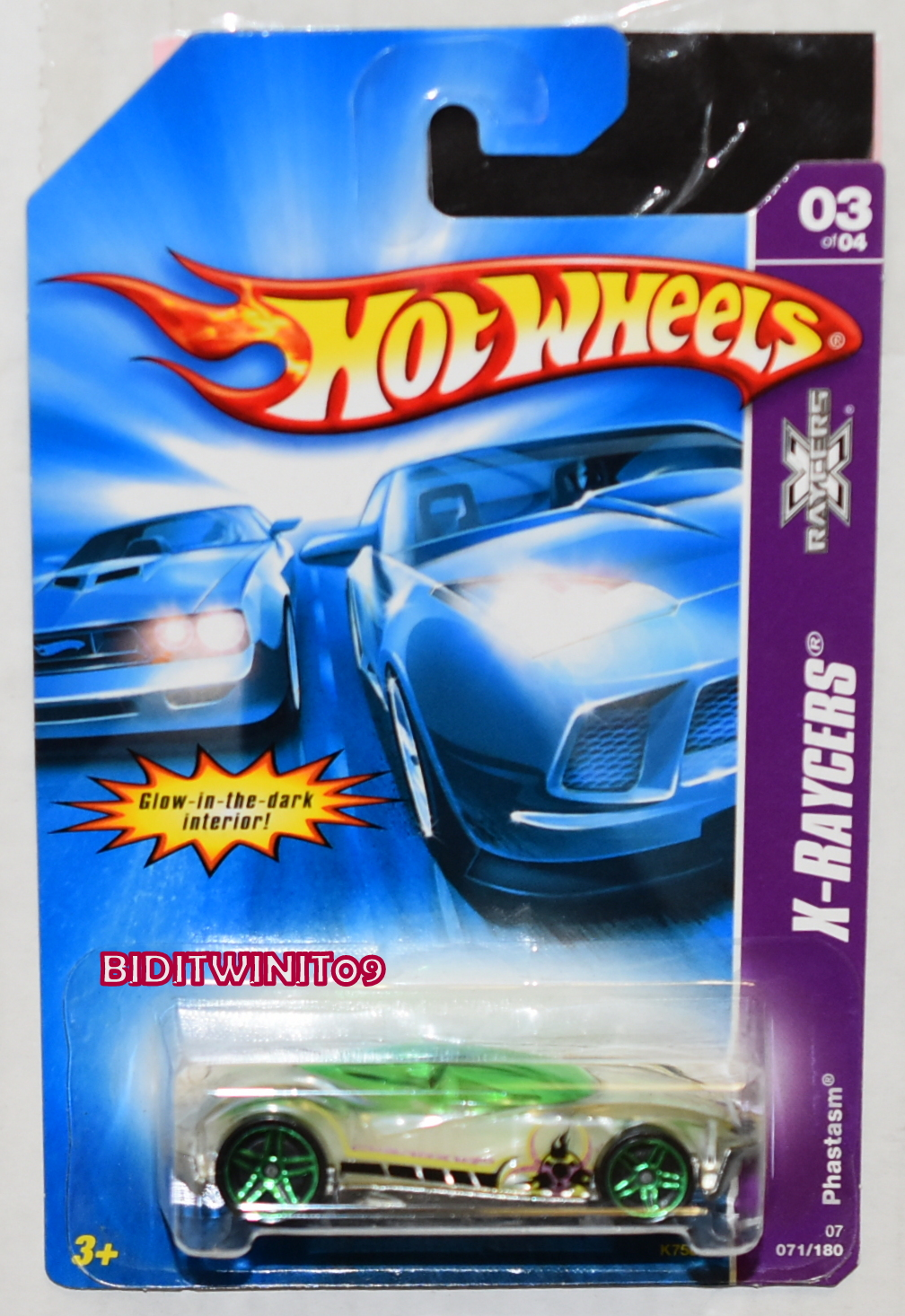 HOT WHEELS 2007 X-RAYCERS PHASTASM #03/04 GREEN