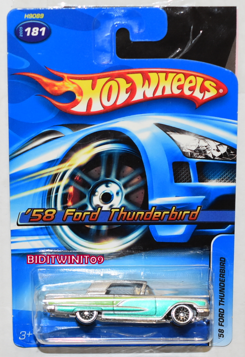 HOT WHEELS 2005 '58 FORD THUNDERBIRD #181 SILVER