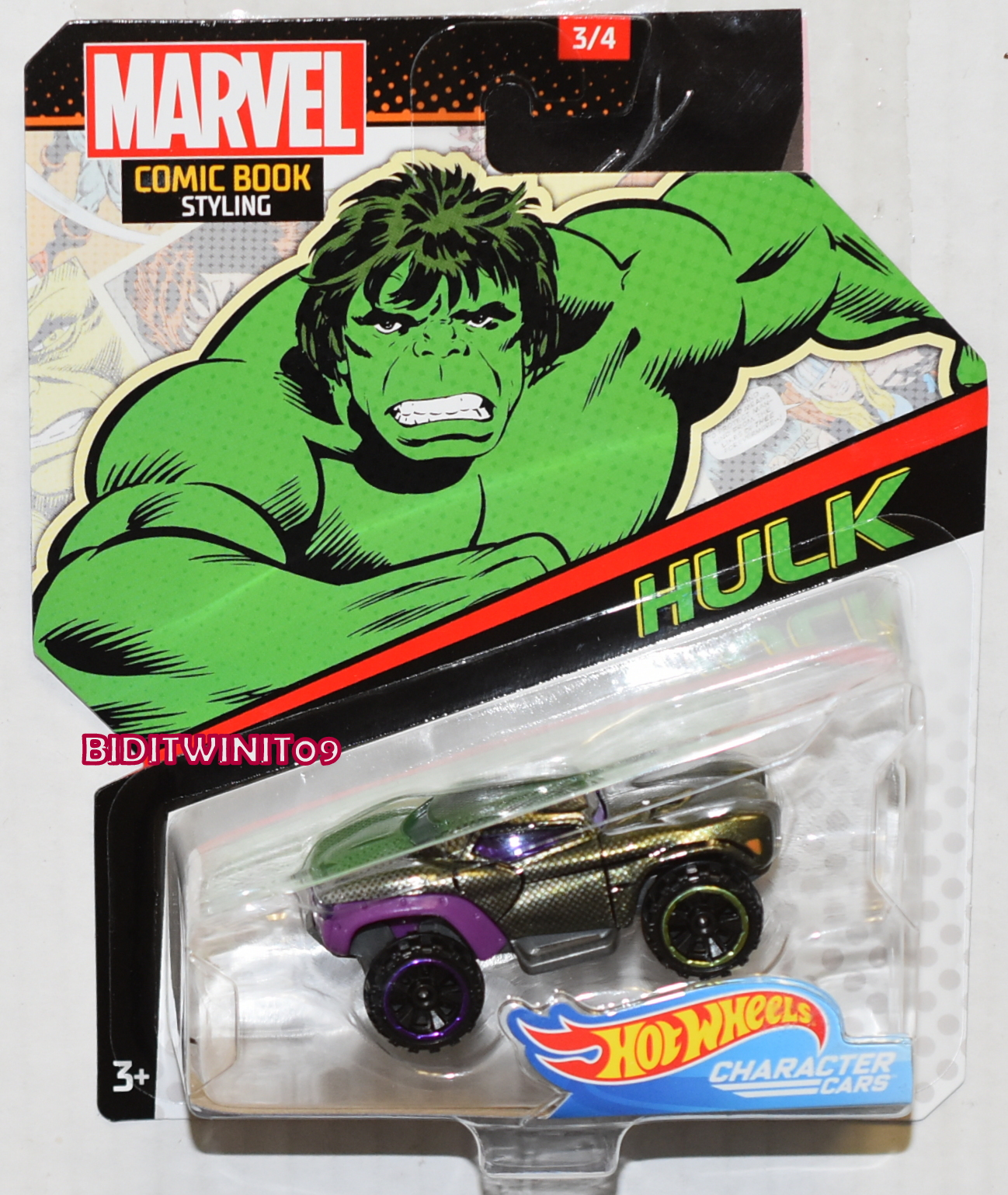 Hot Wheels Marvel Comic Book Styling Hulk Character Cars 0023667 4 42 Biditwinit09 Com Classic Colections