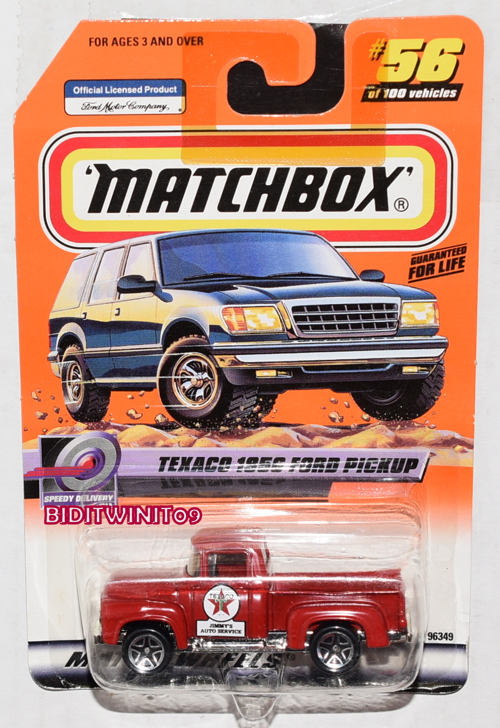 MATCHBOX 2000 TEXACO 1956 FORD PICKUP SPEEDY DELIVERY