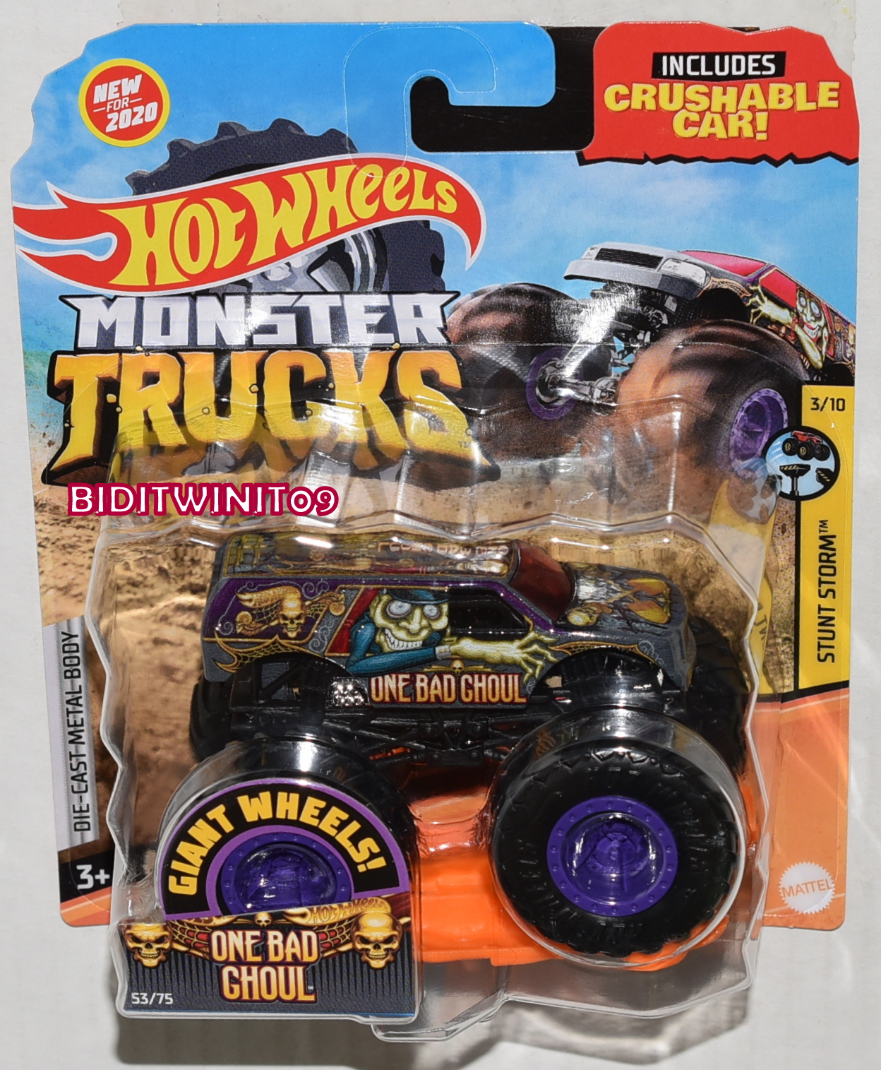 Hot Wheels 2020 Giant Wheels Monster Trucks Case G One Bad Ghoul 0024503 5 53 Biditwinit09 Com Classic Colections