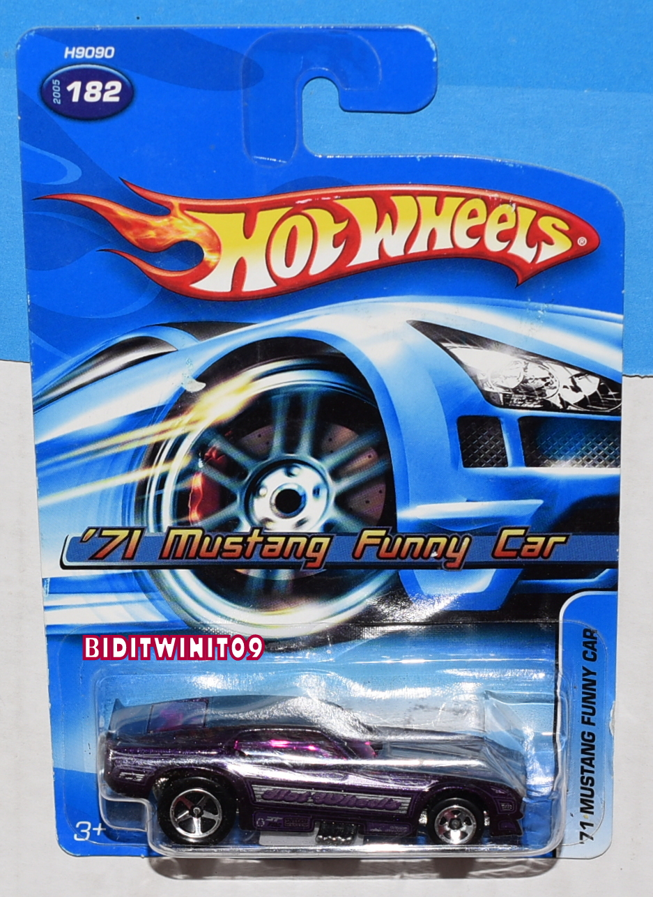 Nice!! Hot Wheels /'71 Mustang Funny Car Purple 2005 #182 New on Card