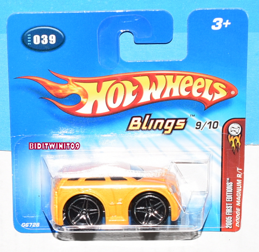 HOT WHEELS 2005 FIRST EDITIONS DODGE MAGNUM R/T #039 YELLOW SHORT CARD E+