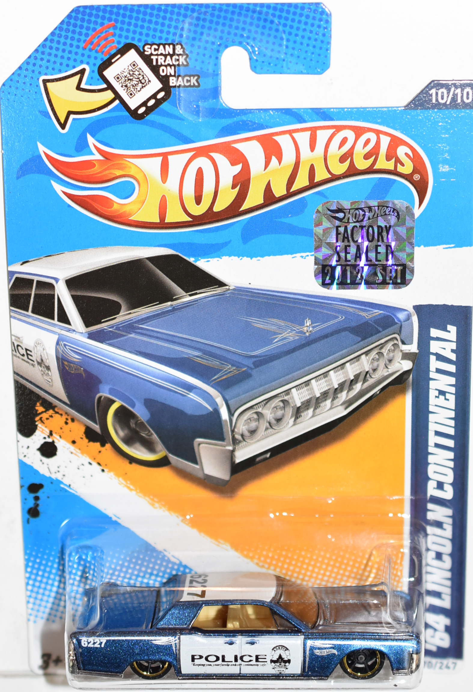 HOT WHEELS 2012 '64 LINCOLN CONTINENTAL FACTORY SEALED