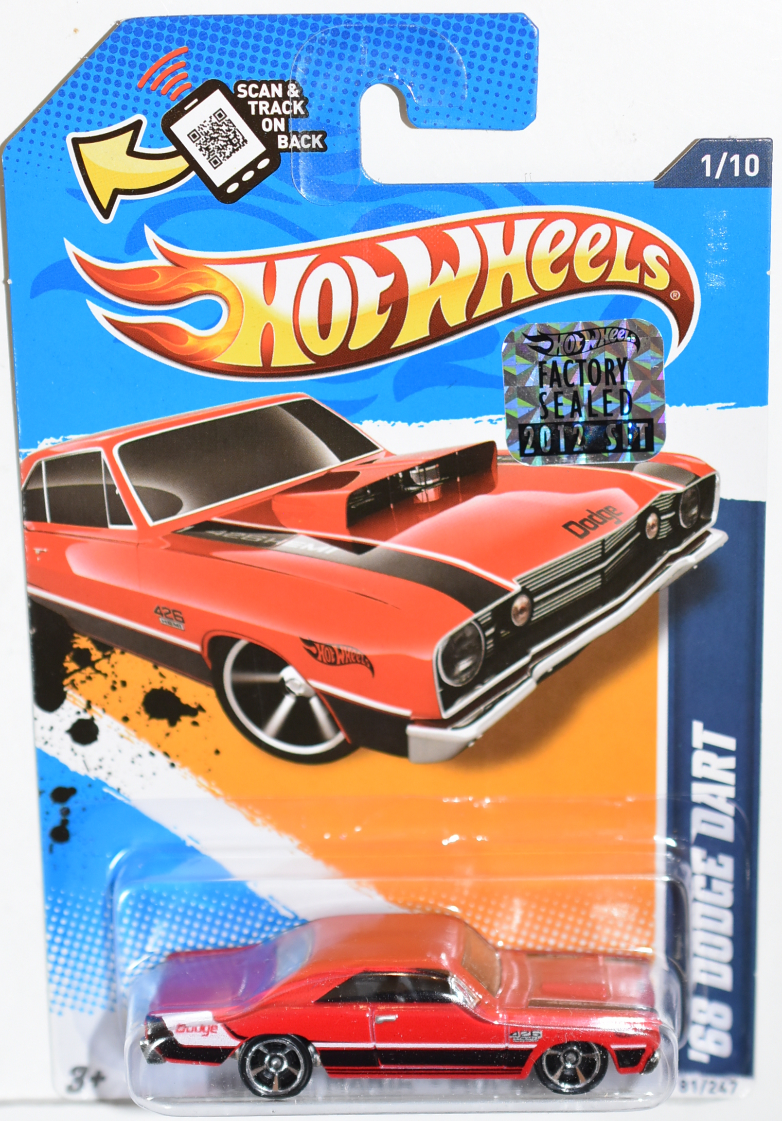 HOT WHEELS 2012 '68 DODGE DART RED FACTORY SEALED