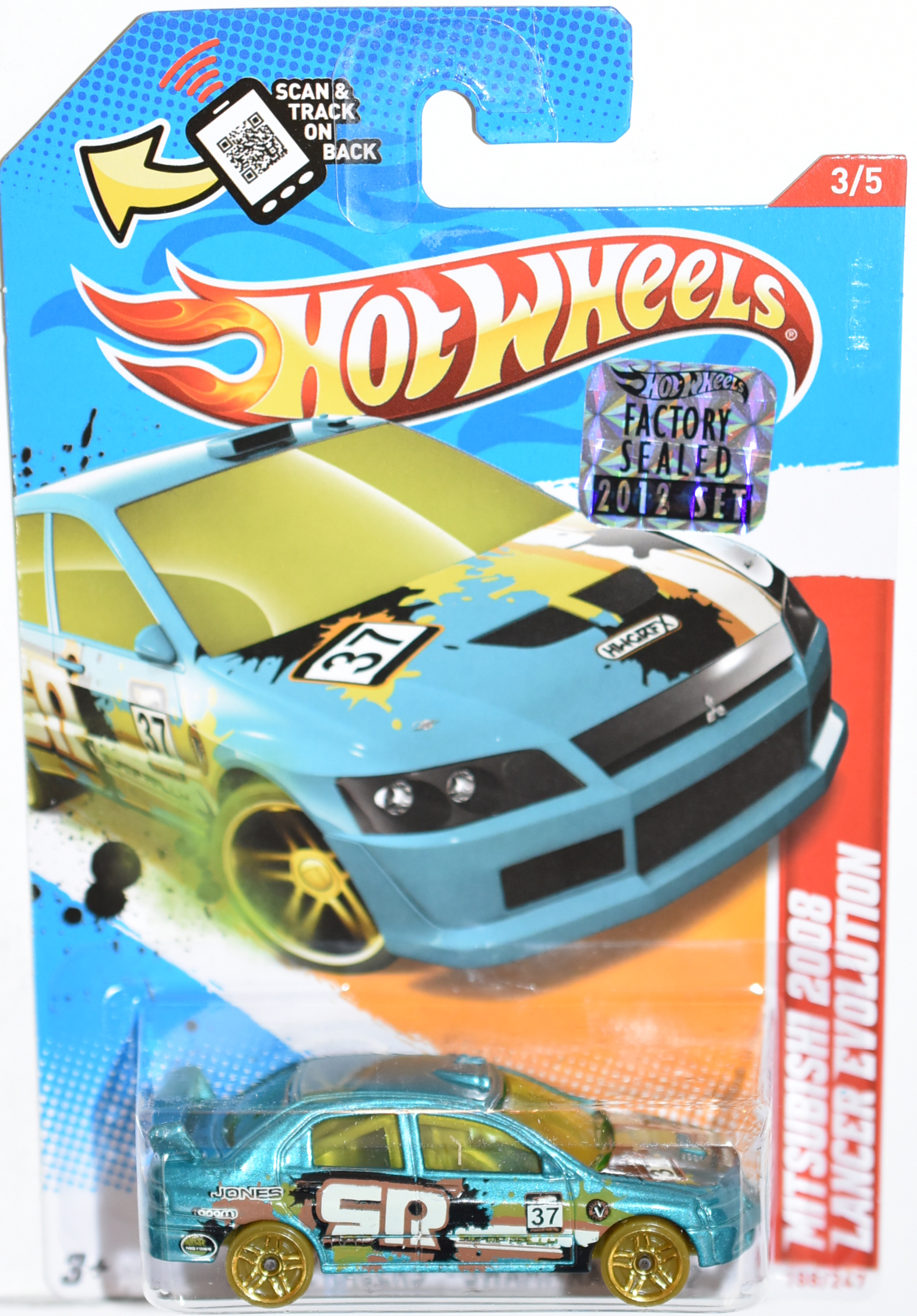 HOT WHEELS 2012 MITSUBISHI 2008 LANCER EVOLUTION BLUE FACTORY SEALED