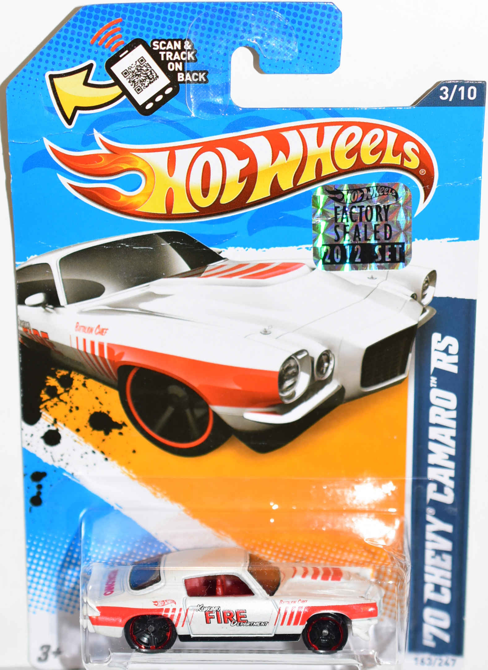 HOT WHEELS 2012 '70 CHEVY CAMARO SS FACTORY SEALED
