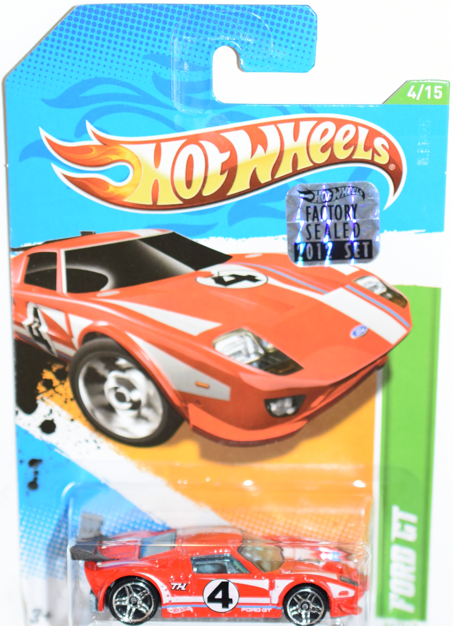 HOT WHEELS 2012 REGULAR TREASURE HUNT FORD GT FACTORY SEALED