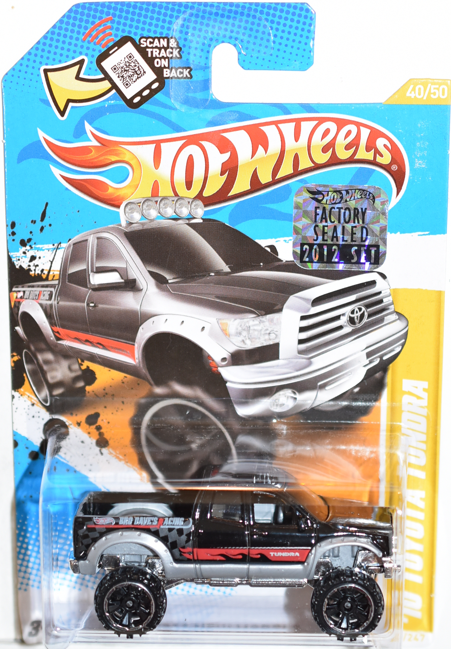 HOT WHEELS 2012 '10 TOYOTA TUNDRA BLACK FACTORY SEALED
