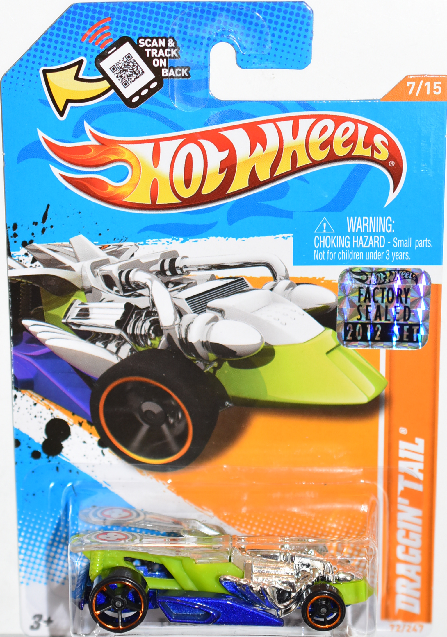 HOT WHEELS 2012 DRAGGIN' TAIL FACTORY SEALED