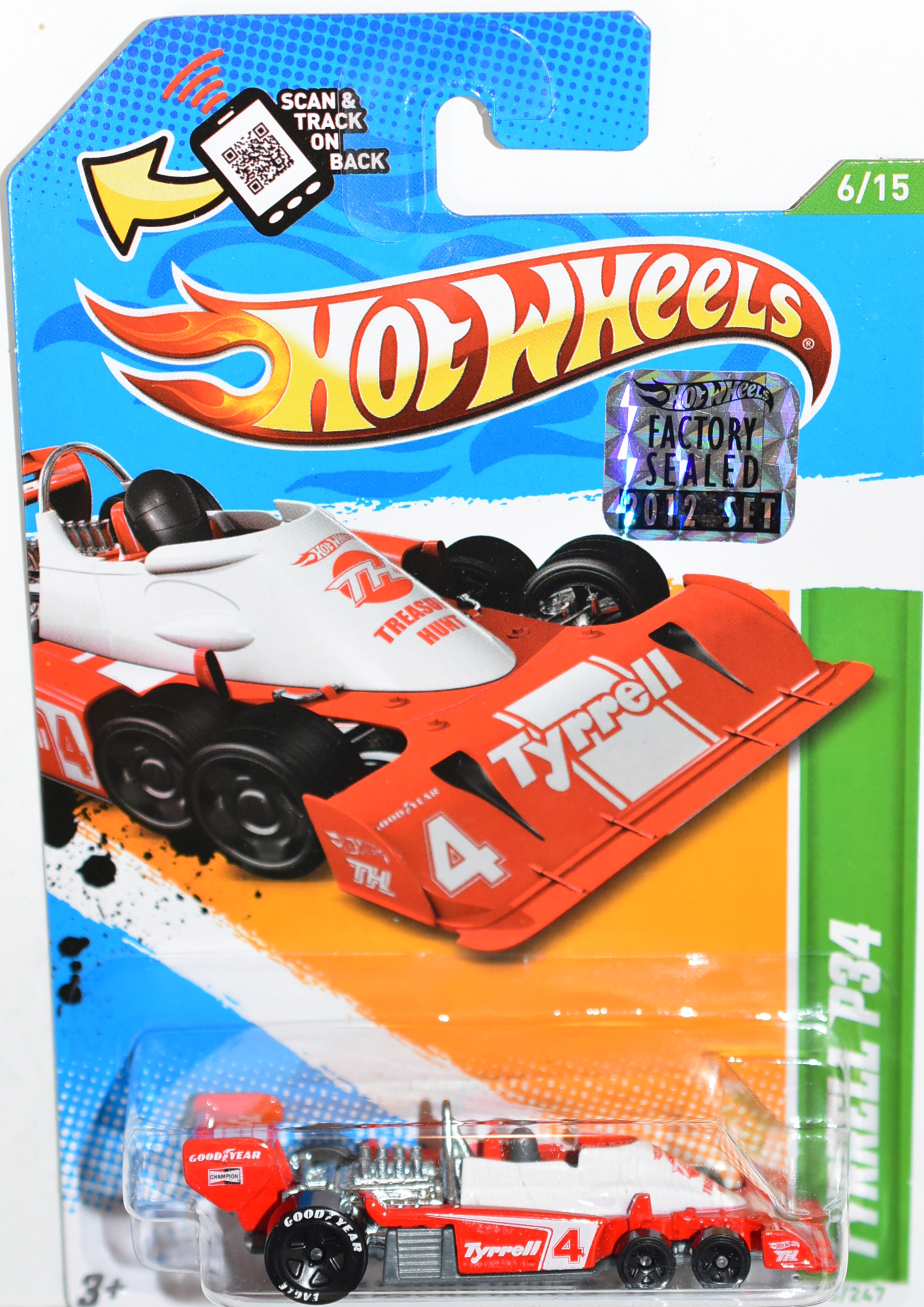 HOT WHEELS 2012 TYRRELL P34 REGULAR TREASURE HUNT FACTORY SEALED