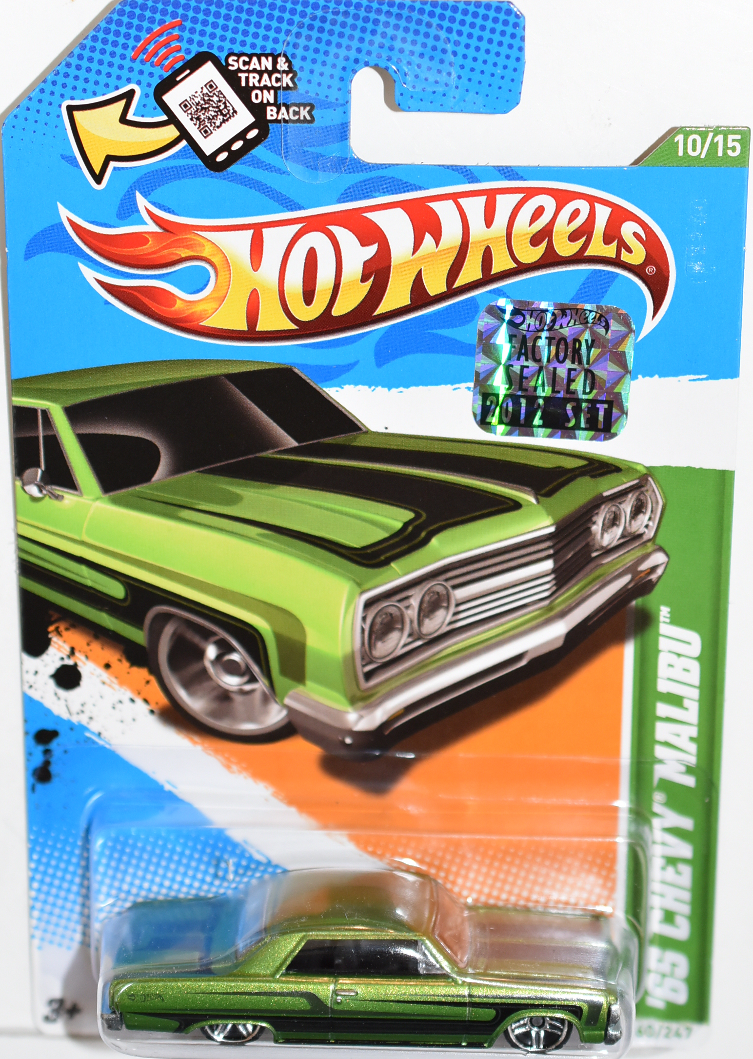 HOT WHEELS 2012 '65 CHEVY MALIBU FACTORY SEALED