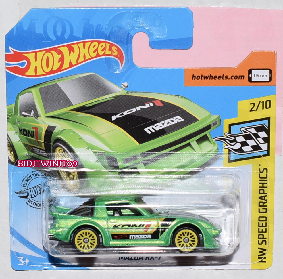 Short Card. New Collectable Toy Model Car Mazda RX-7 Hot Wheels 2019