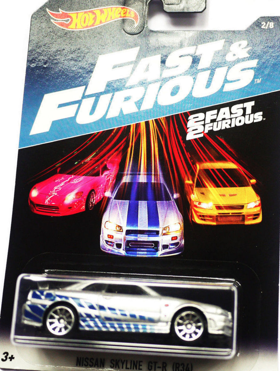 HOT WHEELS 2017 FAST & FURIOUS NISSAN SKYLINE GT-R (R34)