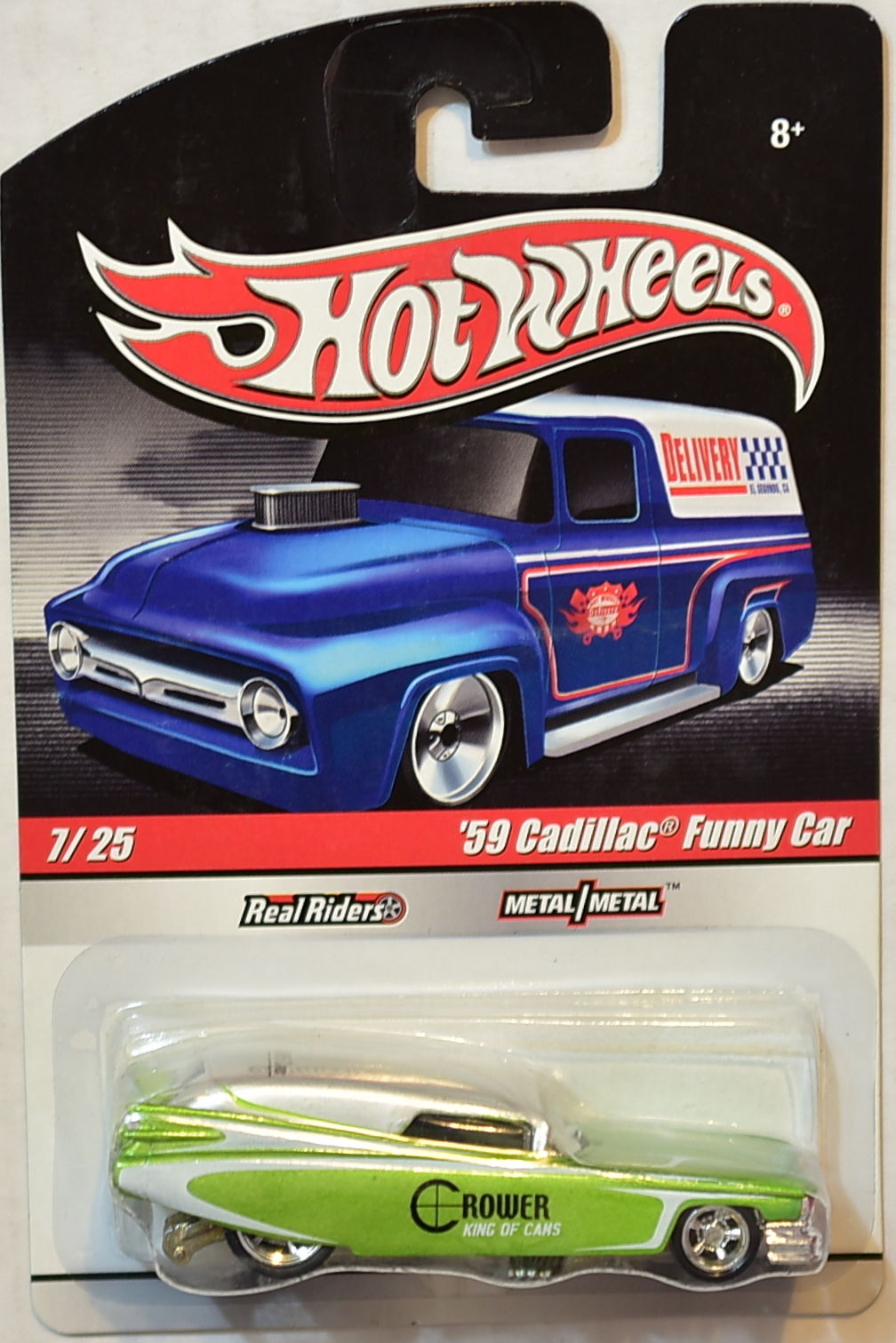 HOT WHEELS DELIVERY '59 CADILLAC FUNNY CAR #7/25