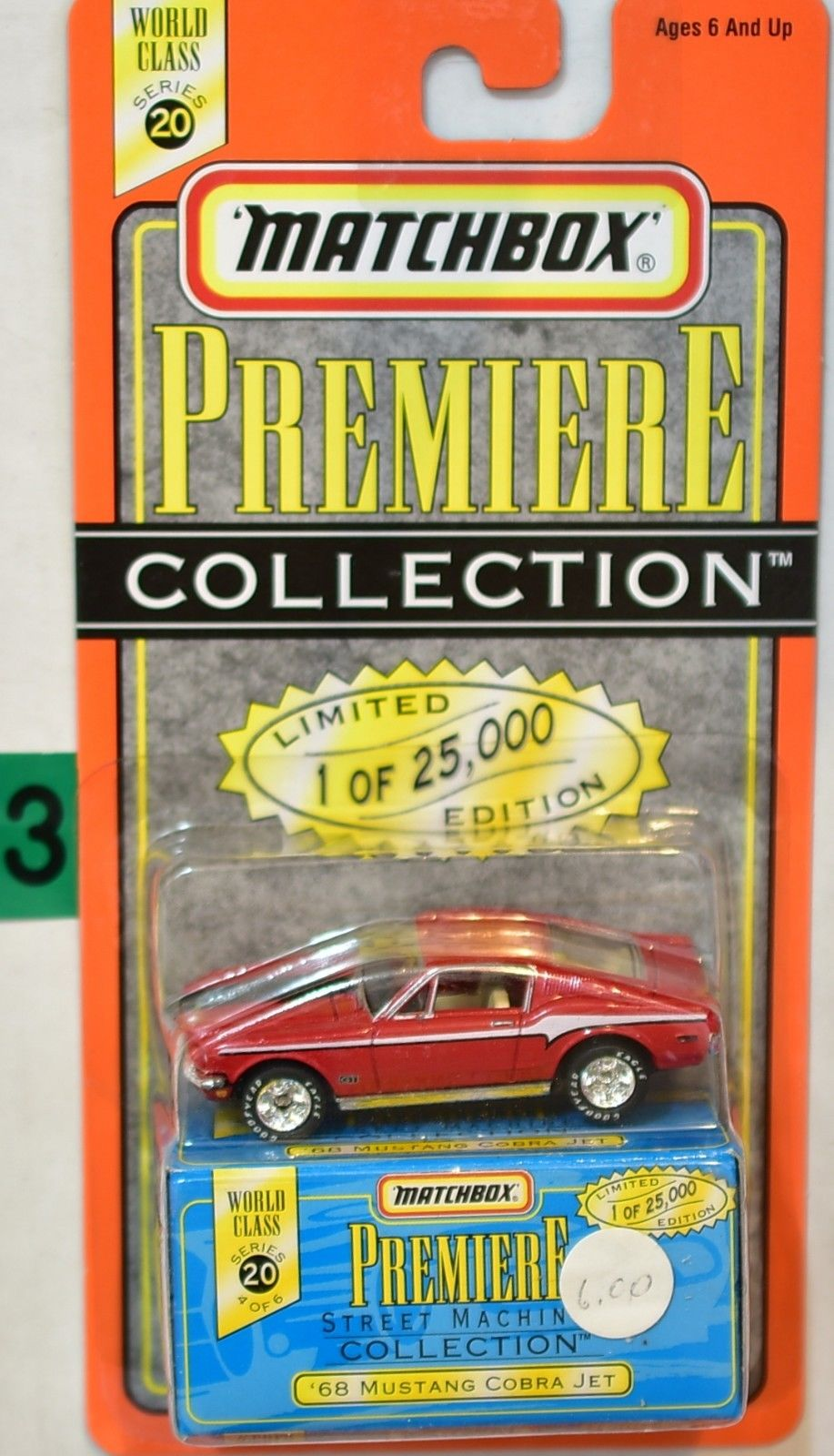 MATCHBOX PREMIERE COLLECTION SERIES 20 '68 MUSTANG COBRA JET RED
