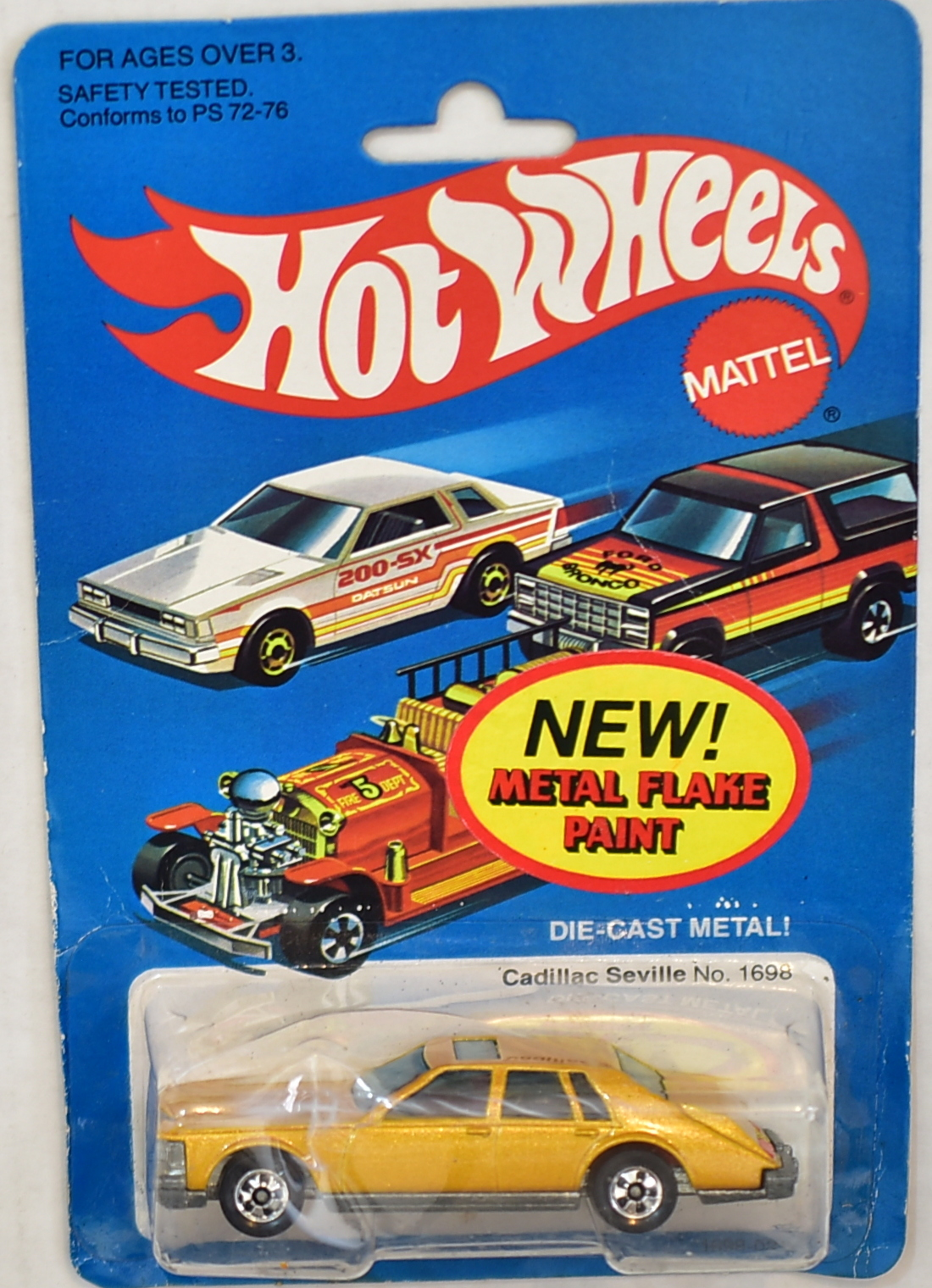 HOT WHEELS 1981 METAL FLAKE PAINT CADILLAC SEVILLE #1698