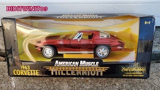 AMERICAN MUSCLE MILLENNIUM 1963 CORVETTE LIMITED EDITION 1:18 SCALE E+