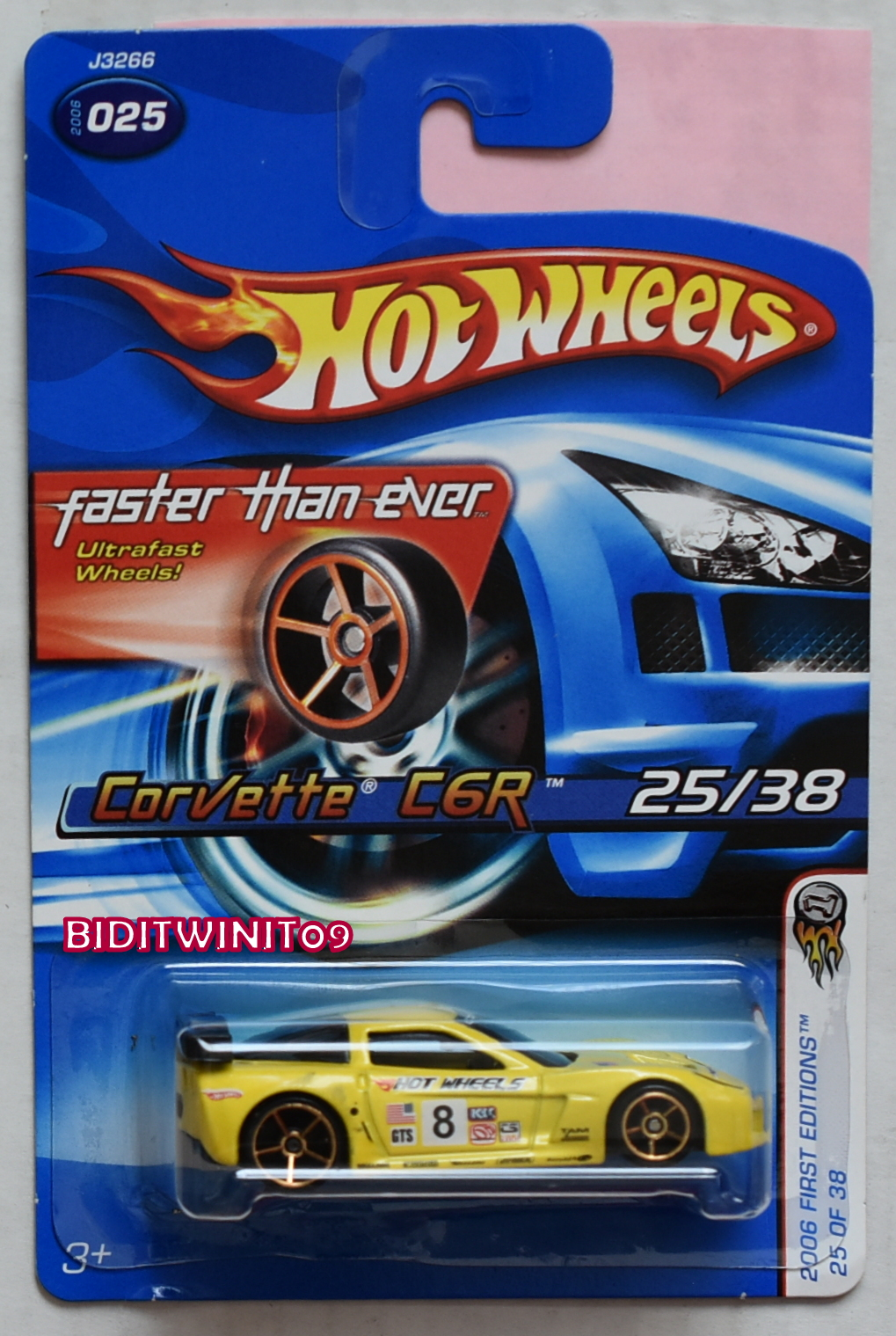 HOT WHEELS 2006 FIRST EDITIONS FTE CORVETTE C6R VARIATION E+