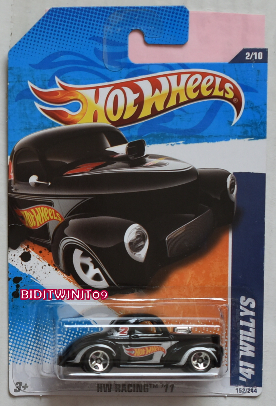 HOT WHEELS 2011 HW RACING '41 WILLYS VARIATION E+
