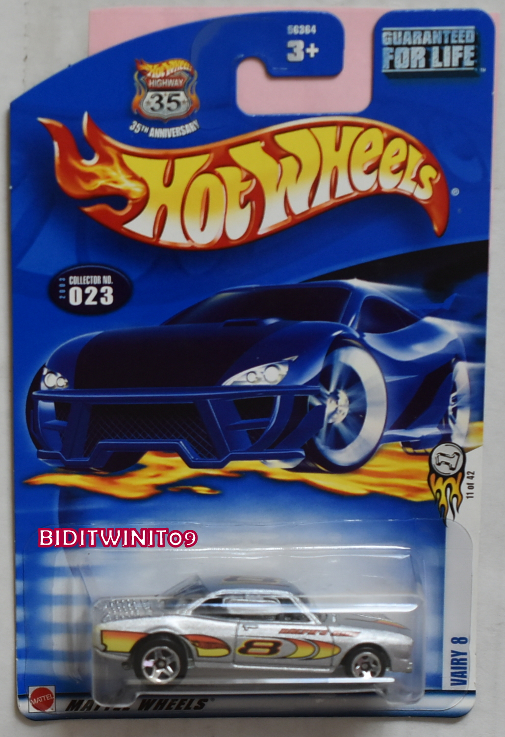 HOT WHEELS 2003 VAIRY 8 #023 VARIATION E+