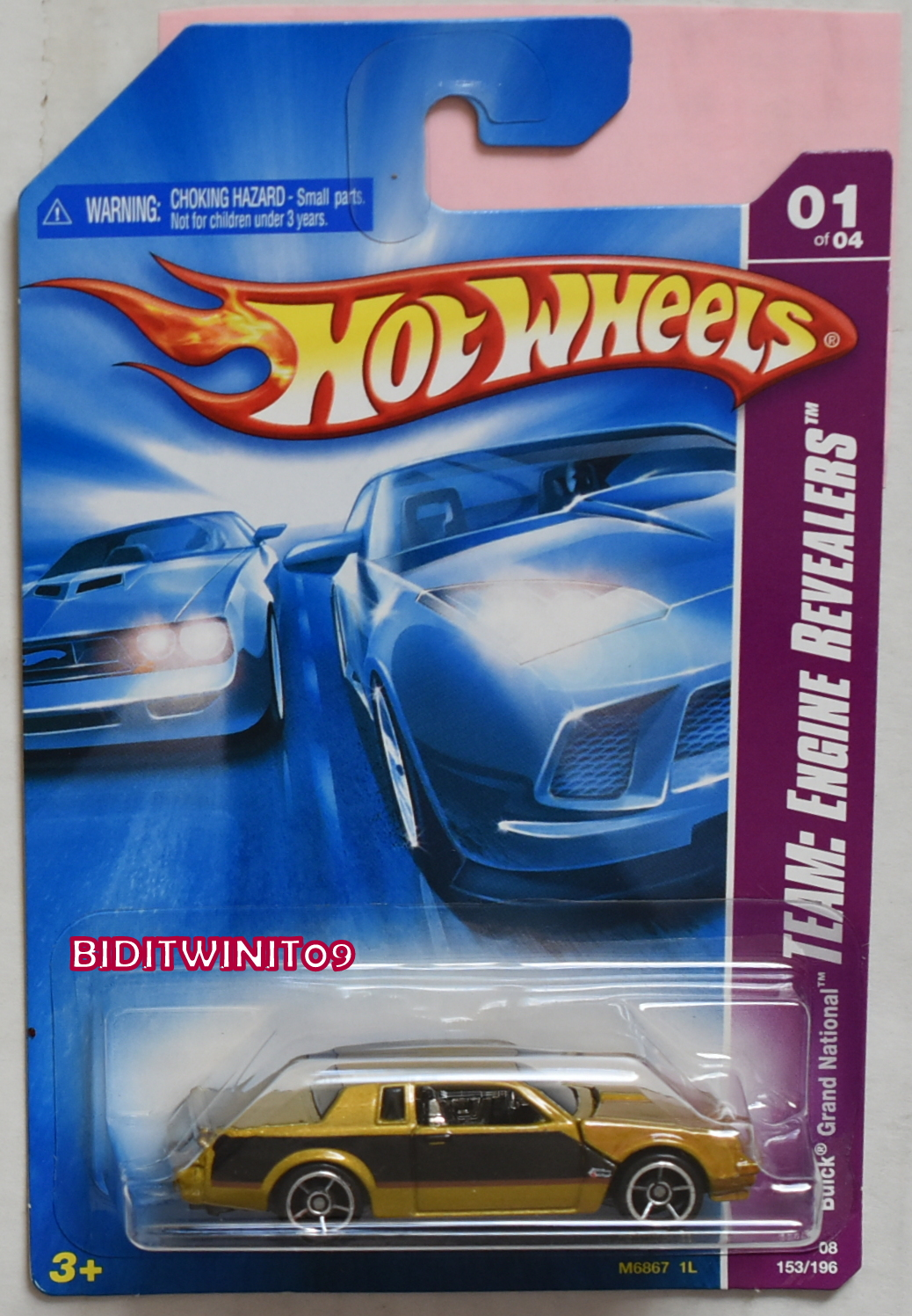HOT WHEELS 2008 TEAM: ENGINE REVEALERS BUICK GRAND NATIONAL VARIATION E+