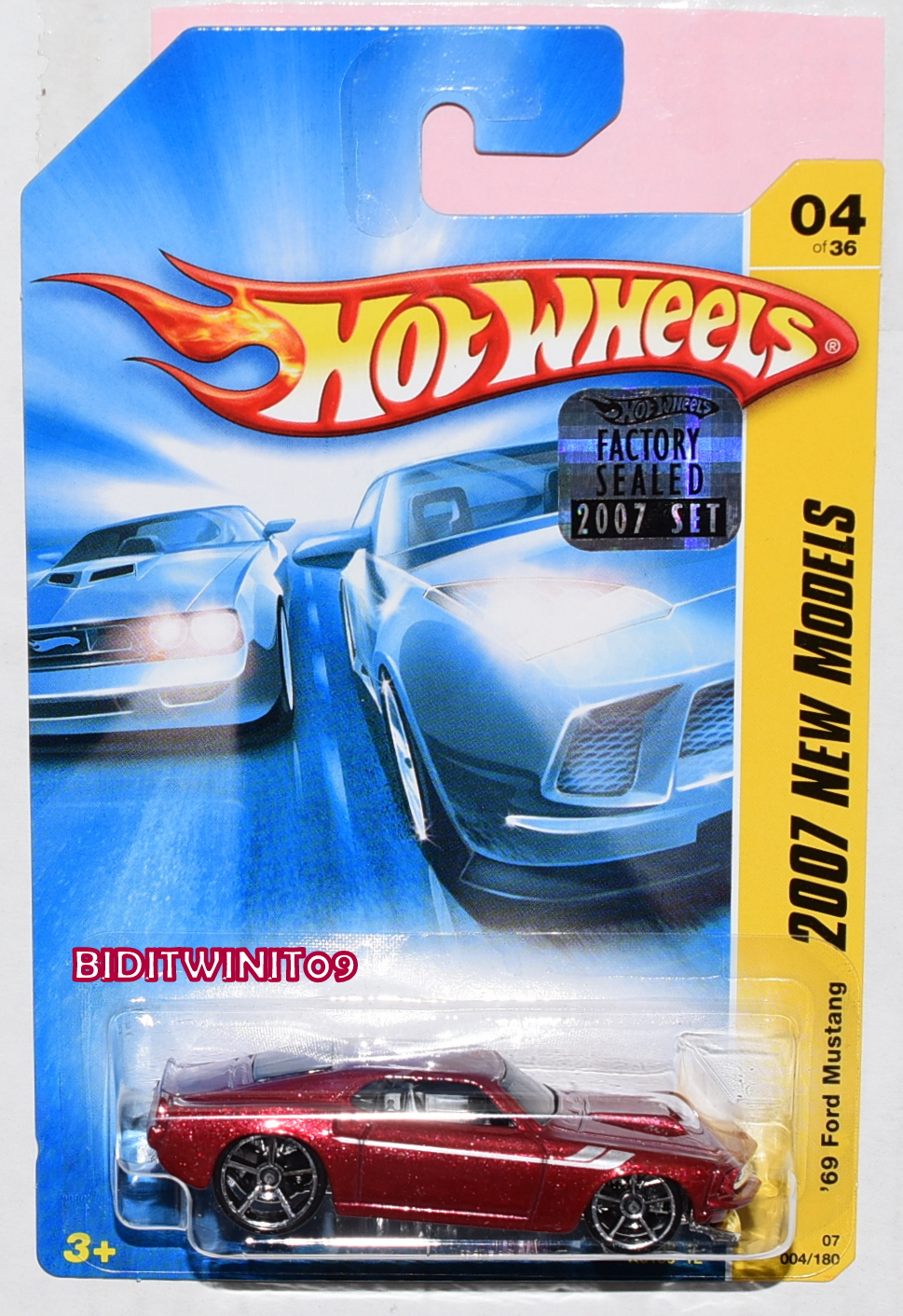 HOT WHEELS 2007 NEW MODELS '69 FORD MUSTANG #04/26 RED FACTORY SEALED