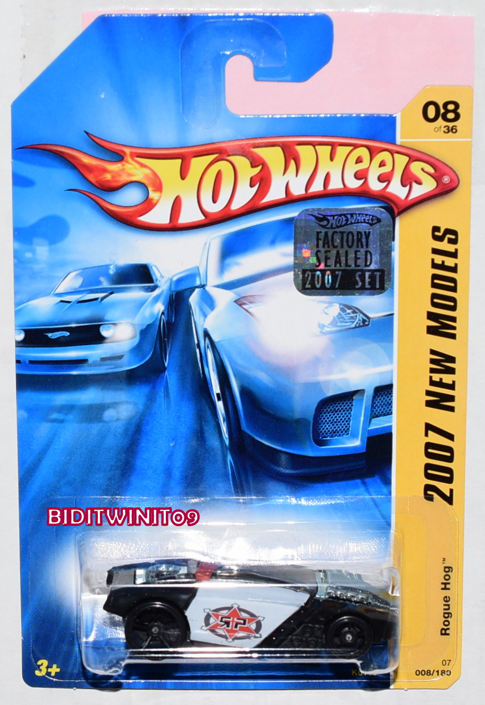 HOT WHEELS 2007 NEW MODELS ROGUE HOG #08/36 FACTORY SEALED