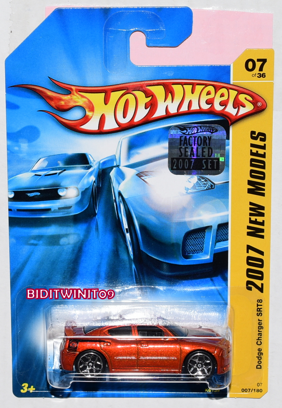 HOT WHEELS 2007 NEW MODELS DODGE CHARGER SRT8 #07/36 RED FACTORY SEALED