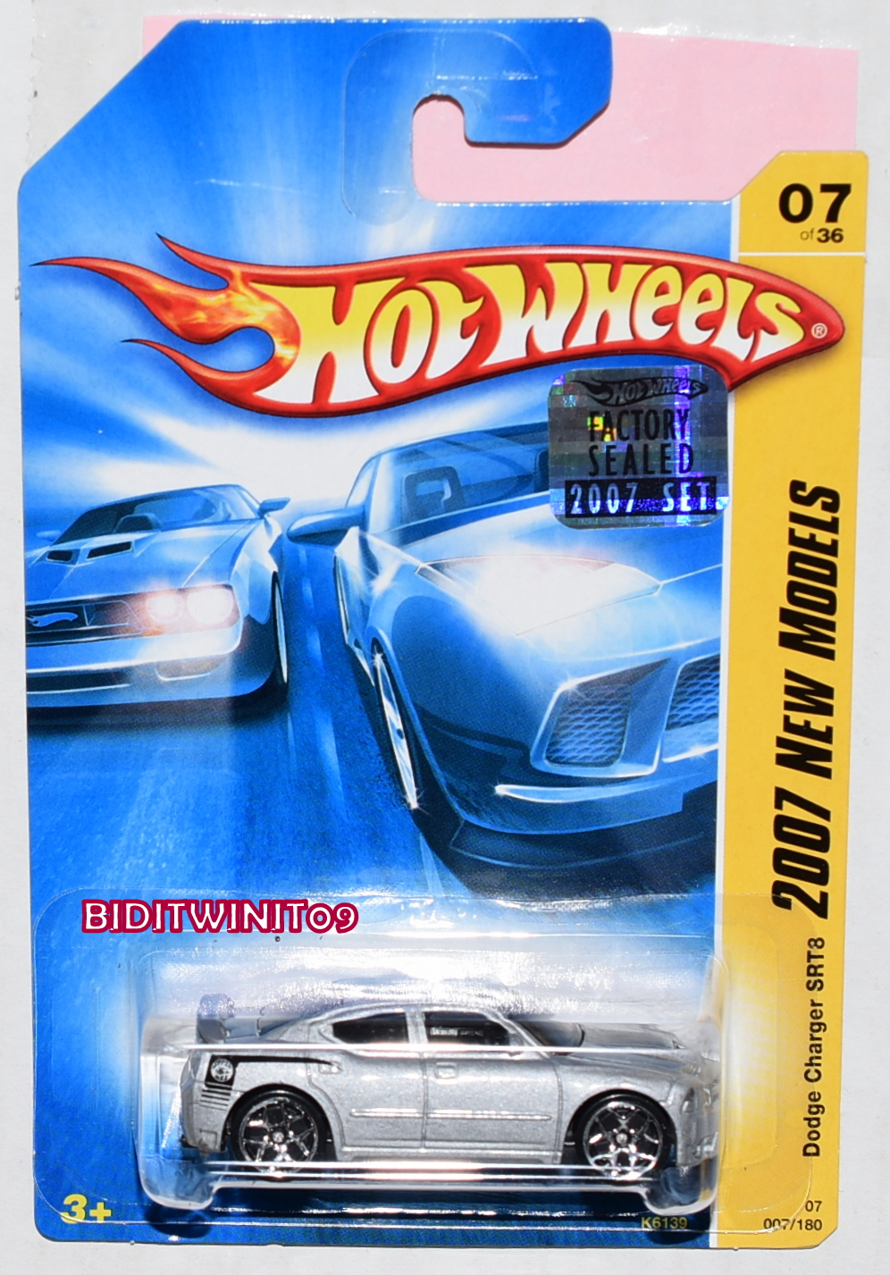 HOT WHEELS 2007 NEW MODELS DODGE CHARGER SRT8 #07/36 SILVER FACTORY SEALED