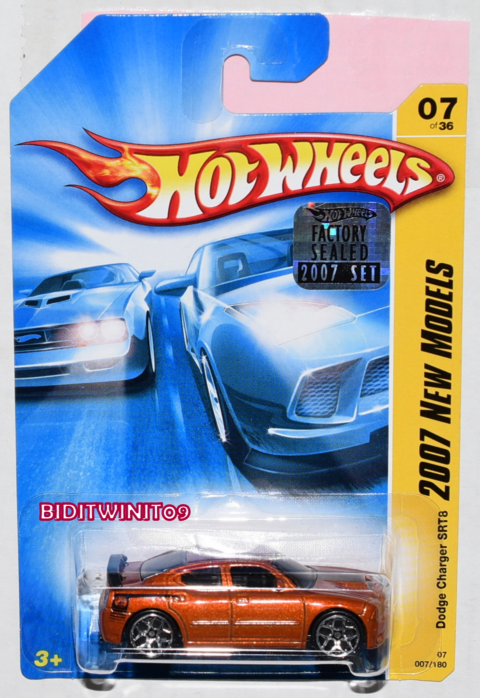 HOT WHEELS 2007 NEW MODELS DODGE CHARGER SRT8 BRONZE FACTORY SEALED