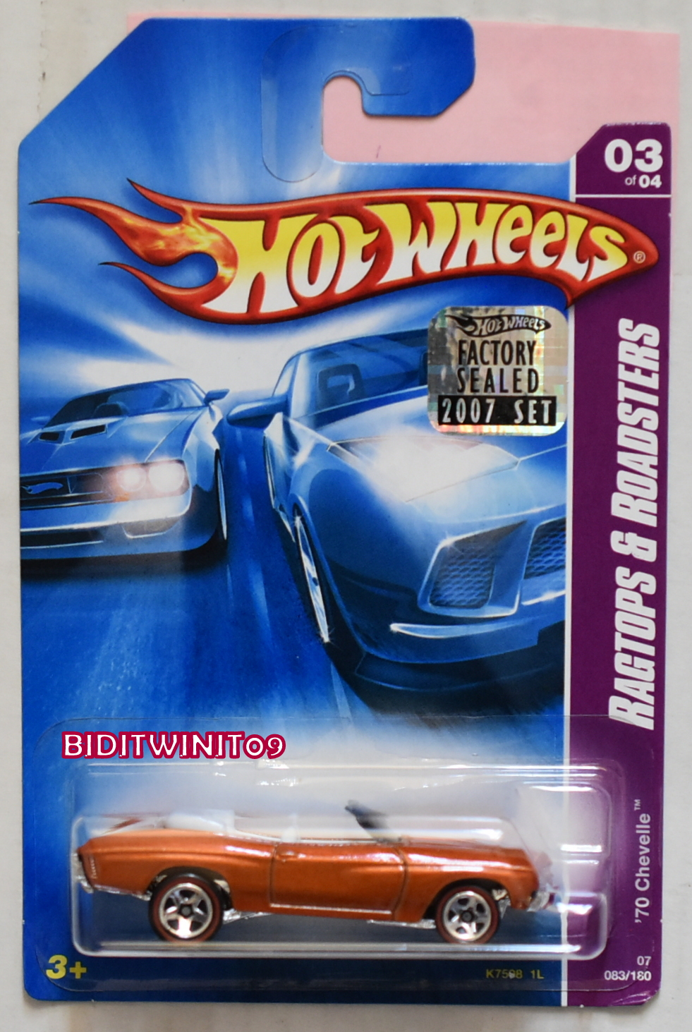 HOT WHEELS 2007 RAGTOPS & ROADSTERS '70 CHEVELLE #03/04 FACTORY SEALED