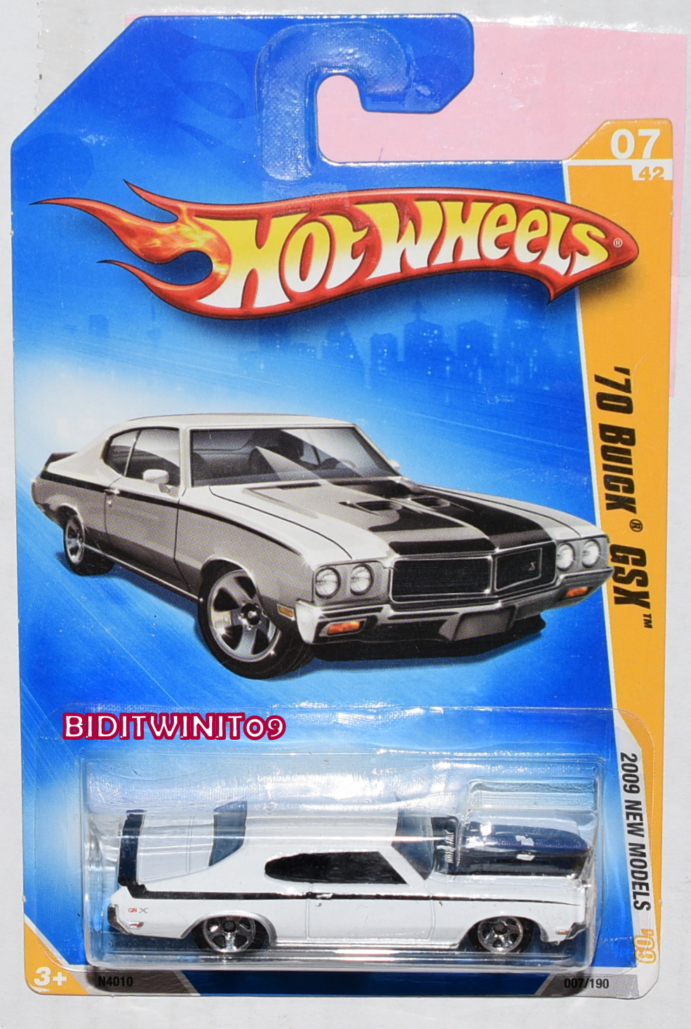 HOT WHEELS 2009 NEW MODELS '70 BUICK GSX #07/42 WHITE