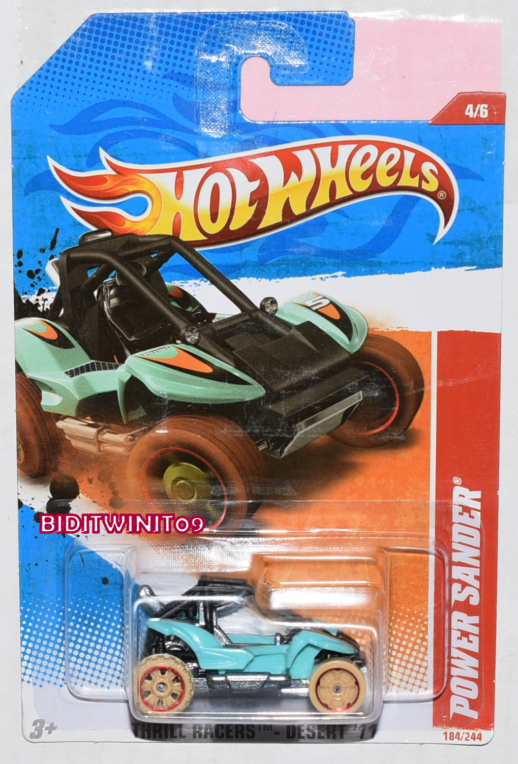 HOT WHEELS 2011 THRILL RACERS DESERT POWER SANDER #4/6