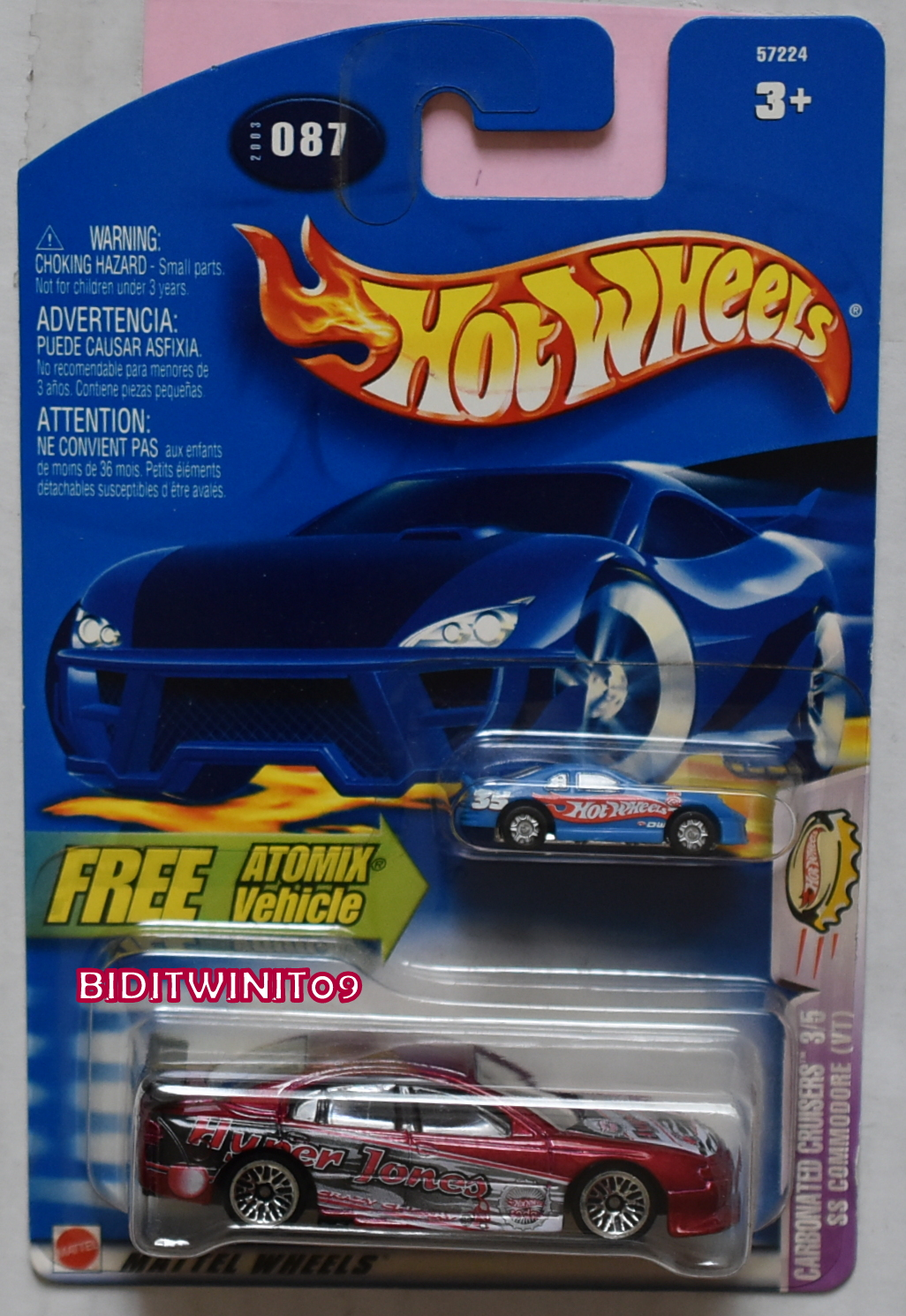 HOT WHEELS 2003 CARBONATED CRUISERS HOLDEN COMMODORE (VT) W/ FREE ATOMIX