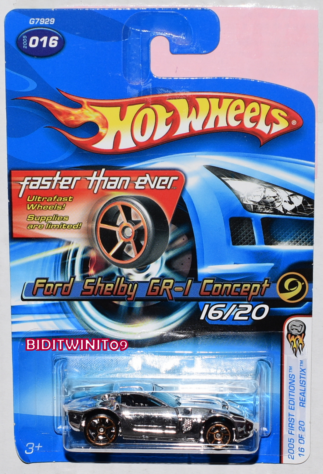 HOT WHEELS 2005 FIRST EDITIONS FTE FORD SHELBY GT-1 CONCEPT E+