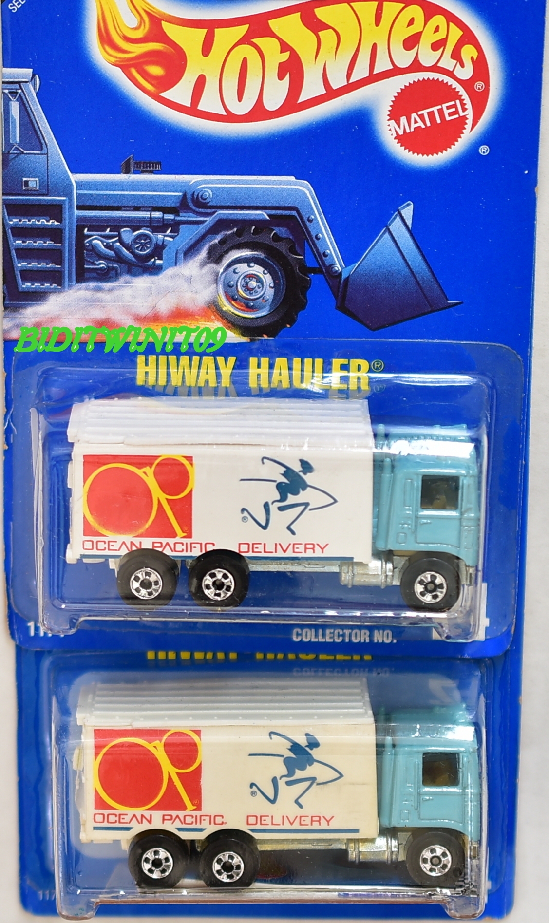 HOT WHEELS 1990 - 1991 BLUE CARD HIWAY HAULER #24 COLOR VARIATION E+