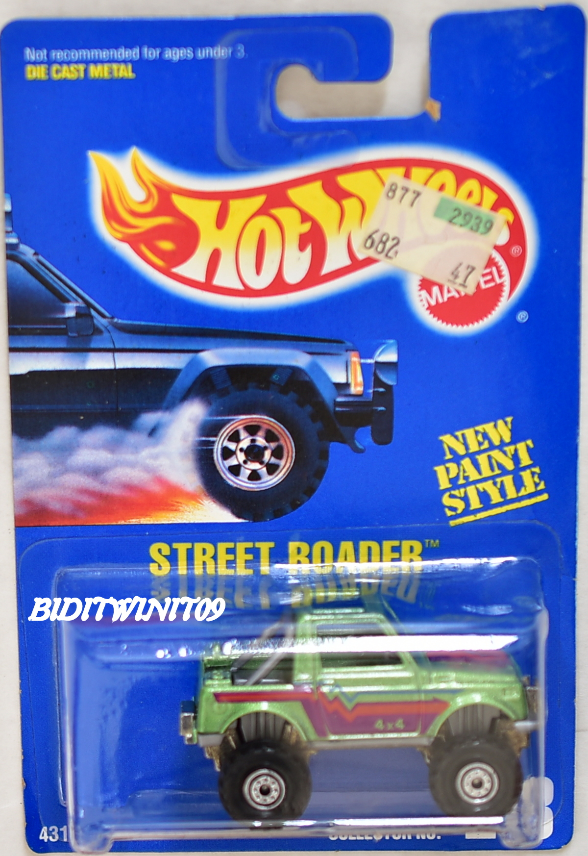 HOT WHEELS 1991 BLUE CARD STREET ROADER #218 GREEN