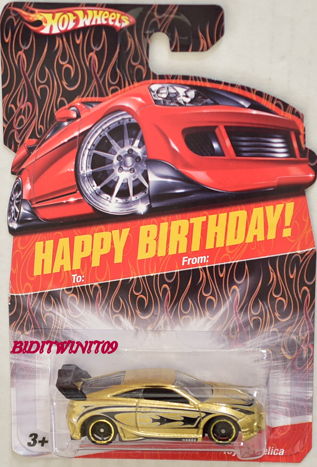 HOT WHEELS HAPPY BIRTHDAY TOYOTA CELICA GOLD