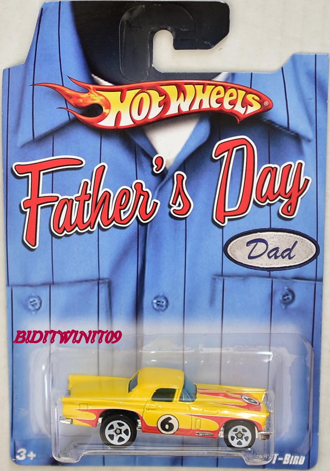 HOT WHEELS FATHER'S DAY 2009 '57 T-BIRD YELLOW