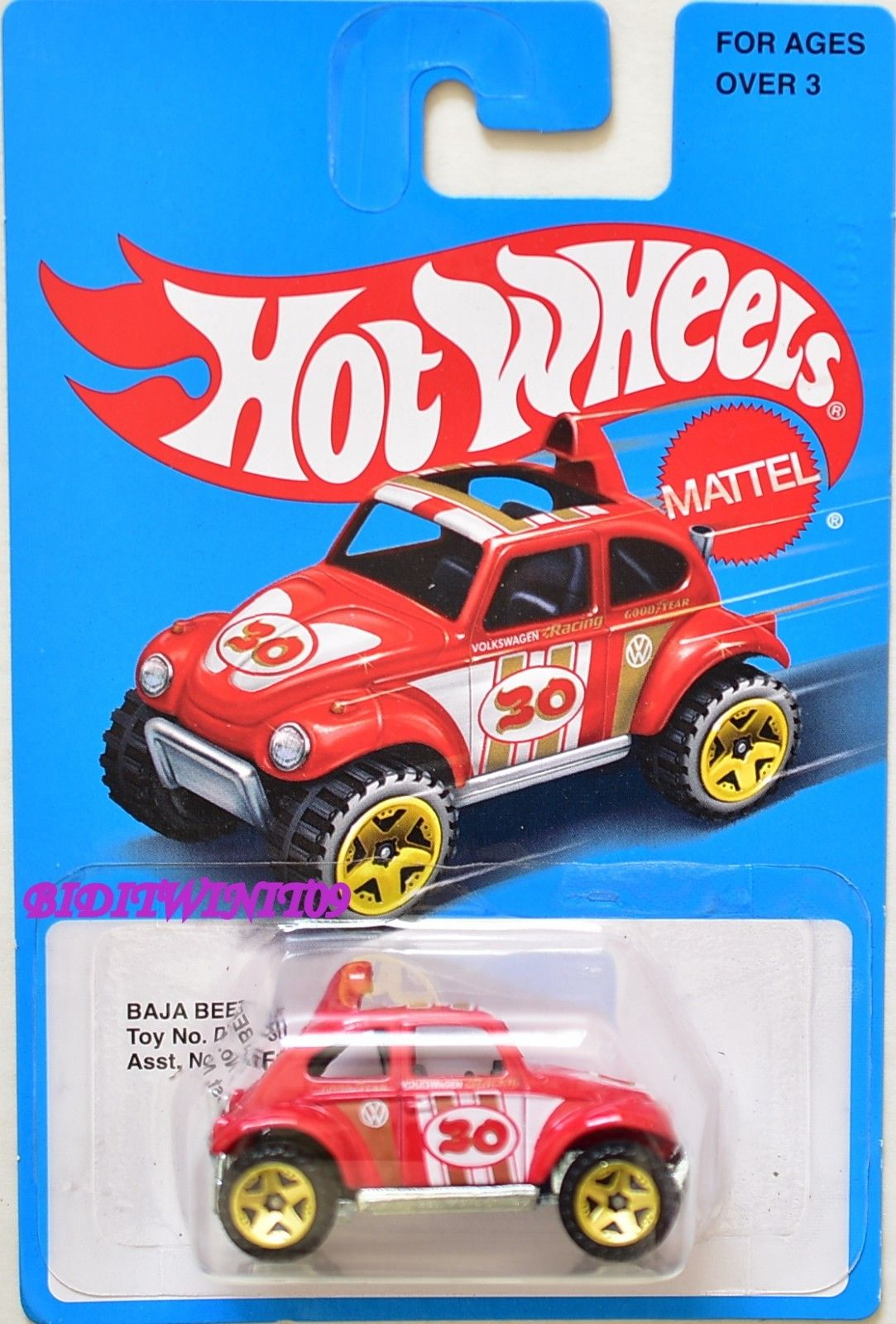 HOT WHEELS 2016 TARGET EXCLUSIVE BAJA BEETLE BLUE CARD SERIES
