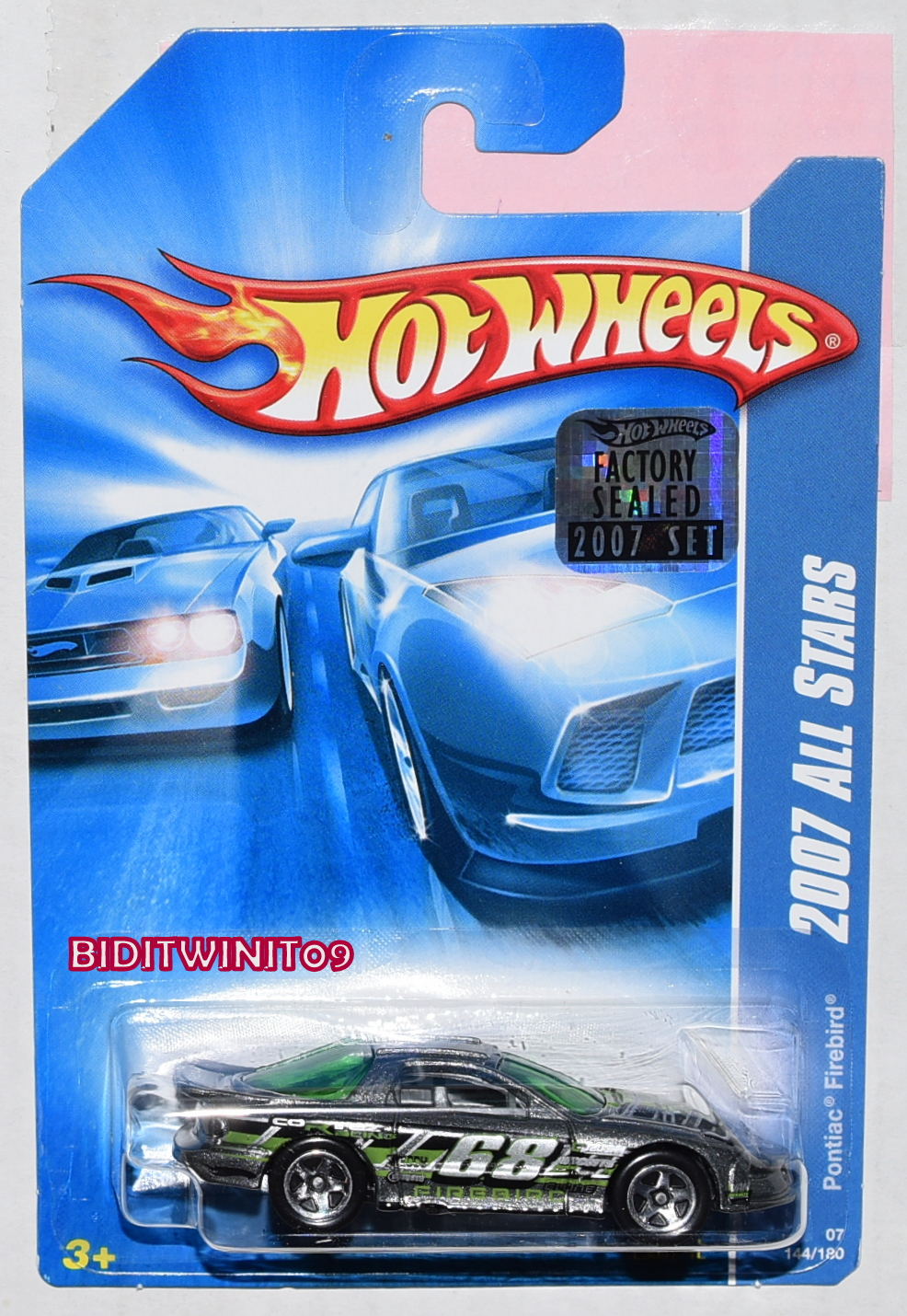 HOT WHEELS 2007 ALL STARS PONTIAC FIREBIRD #144/180 SILVER FACTORY SEALED