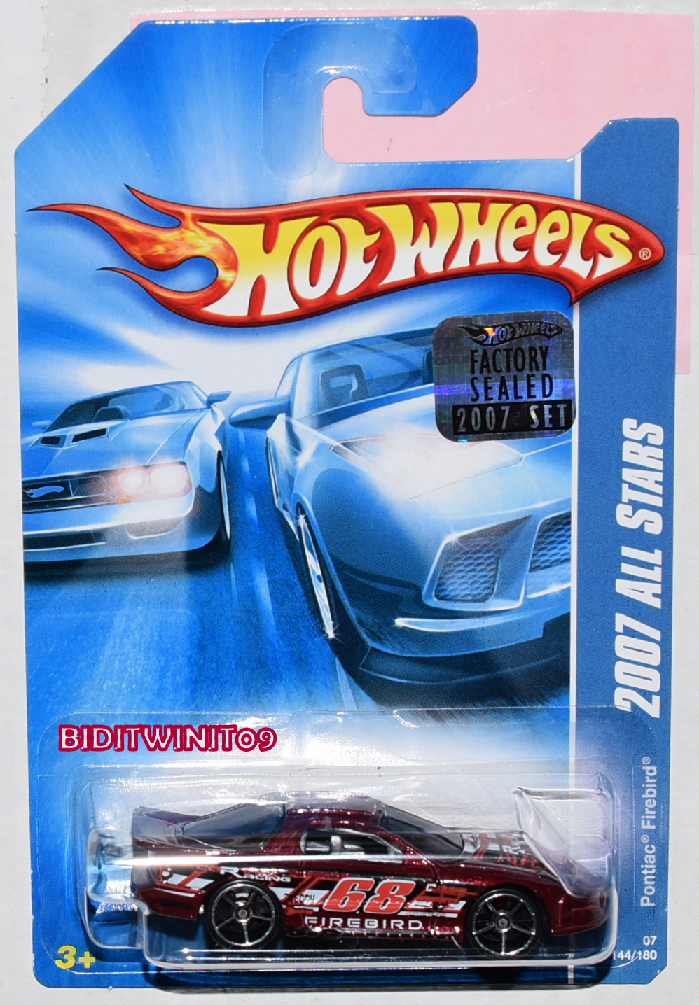 HOT WHEELS 2007 ALL STARS PONTIAC FIREBIRD #144/180 RED FACTORY SEALED