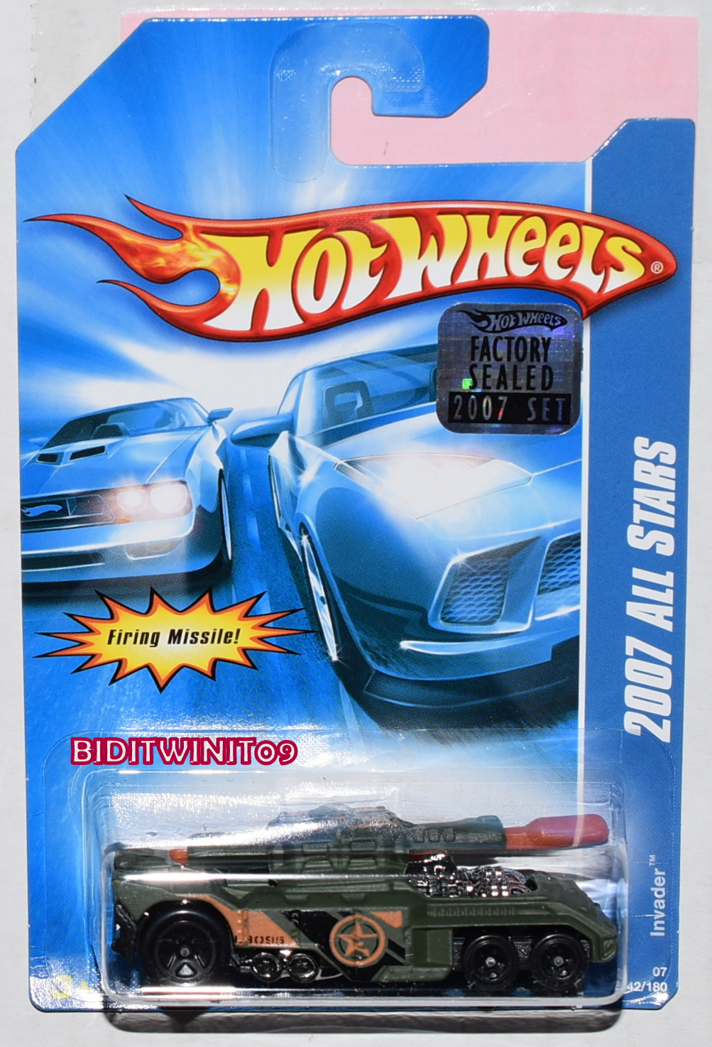 HOT WHEELS 2007 ALL STARS INVADER #142/180 DARK GREEN FACTORY SEALED