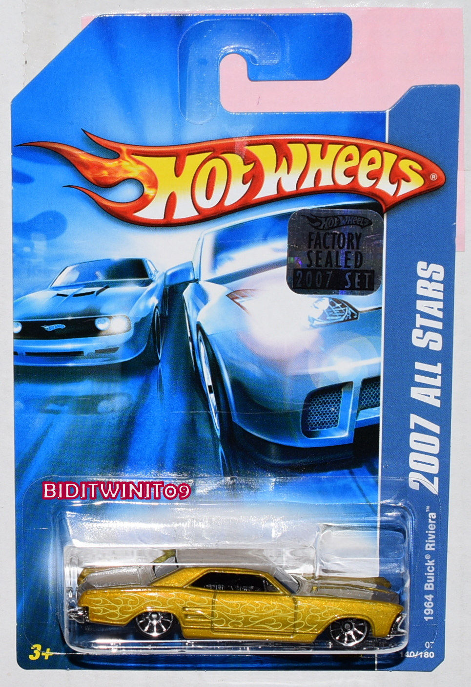 HOT WHEELS 2007 ALL STARS 1964 BUICK RIVIERA GOLD FACTORY SEALED