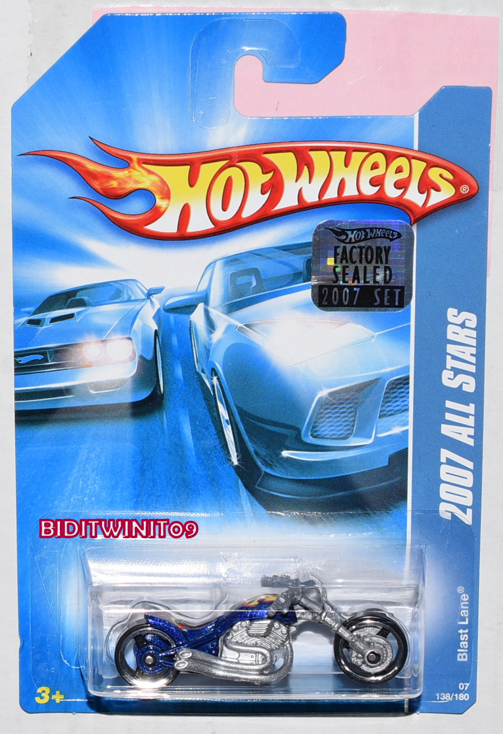 HOT WHEELS 2007 ALL STARS BLAST LANE BLUE FACTORY SEALED