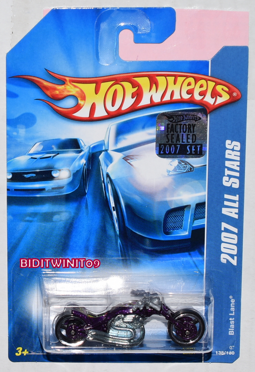 HOT WHEELS 2007 ALL STARS BLAST LANE PURPLE FACTORY SEALED
