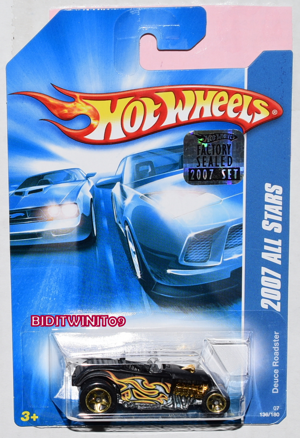 HOT WHEELS 2007 ALL STARS DEUCE ROADSTER BLACK FACTORY SEALED